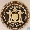 "Belize 5 dollars 1974 (BE) ""Keel-billed Toucan"""