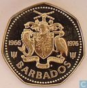"Barbade 1 dollar 1976 (PROOF) ""10th Anniversary of Independence"""