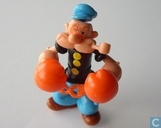 Popeye with orange boxing gloves