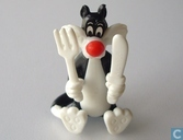 Sylvester with knife and fork