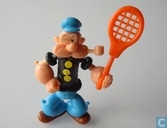 Popeye with tennis racket