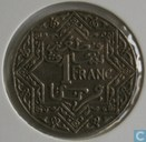 Morocco 1 franc 1924 (lightning flash)