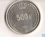 "België 500 franc 1990 ""60th Birthday of King Baudouin"" (FR)"
