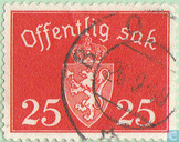 Postage Stamps - Norway - Without watermark 1939-47 offentlig Sak 25