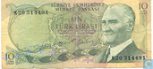 Turkey 10 Lira ND (1975/L1970)