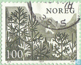 Briefmarken - Norwegen - Bäume