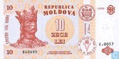 Moldavie 10 Lei 1998