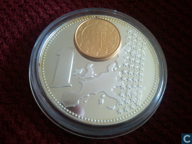 Portugal 1 Euro 2002 The New European Currency Monnaie De