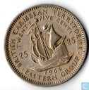 British Caribbean Territories 25 cents 1964