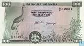 Ouganda 100 Shillings ND (1966) P5a