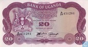 Ouganda 20 Shillings ND (1966)