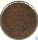 German East Africa 1 pesa 1891