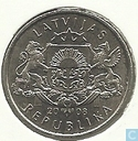 "Latvia 1 lats 2008 ""Waterlily"""