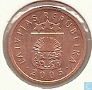 Latvia 1 santims 2005