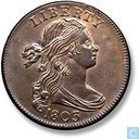 "USA 1 cent 1803 ""Small date, small fraction"""