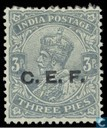King George V with overprint C.E.F.
