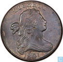United States 1 cent in 1801 (three errors reverse)