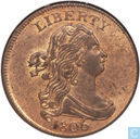 United States 1 / 2 cent 1806 large 6 and stems