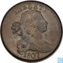 USA 1 cent 1807 large 7 over 6
