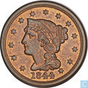 Coins - United States - United States 1 cent 1844