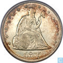 United States 20 cents 1875CC