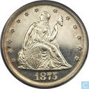 USA 20 cents 1875