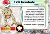 Trading cards - Pokémon TV Animation Edition Series 1 - Geodude