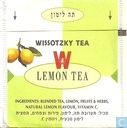 Tea bags and Tea labels - Wissotzky Tea - Lemon Tea