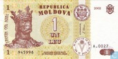 Moldavie 1 Leu 2002