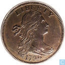 USA 1 cent 1796 to 1797 back
