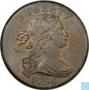 USA 1 cent 1796 to 1795 back