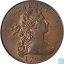 USA 1 cent 1796 with reverse 1796