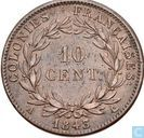 French colonies 10 centimes 1843
