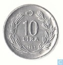 Turkey 10 lira 1981