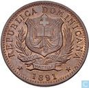 Dominican Republic 10 centimos 1891A