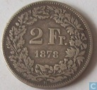 Switzerland 2 francs 1878