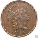 USA 1 / 2 cent 1795 Lettered Edge with pole