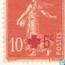 Red Cross, with overprint