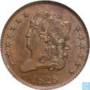 United States 1/2 cent 1825
