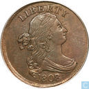 USA 1 / 2 cent 1808 8 over 7