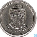 Rhodesia 10 cents 1975