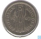 Southern Rhodesia 3 pence 1947