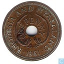 Rhodesia and Nyasaland 1 penny 1961