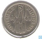 Southern Rhodesia 3 pence 1948