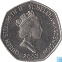 St. Helena and Ascension 50 pence 2003