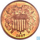 United States 2 cents 1867