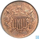 U.S. 2 cents 1864 Small motto