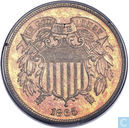 United States 2 cents 1865