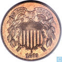 "USA 2 Cent 1872 ""Open 3"""