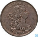 """USA 1 / 2 cent 1804 \""""4 crosslet with stems\"""""""